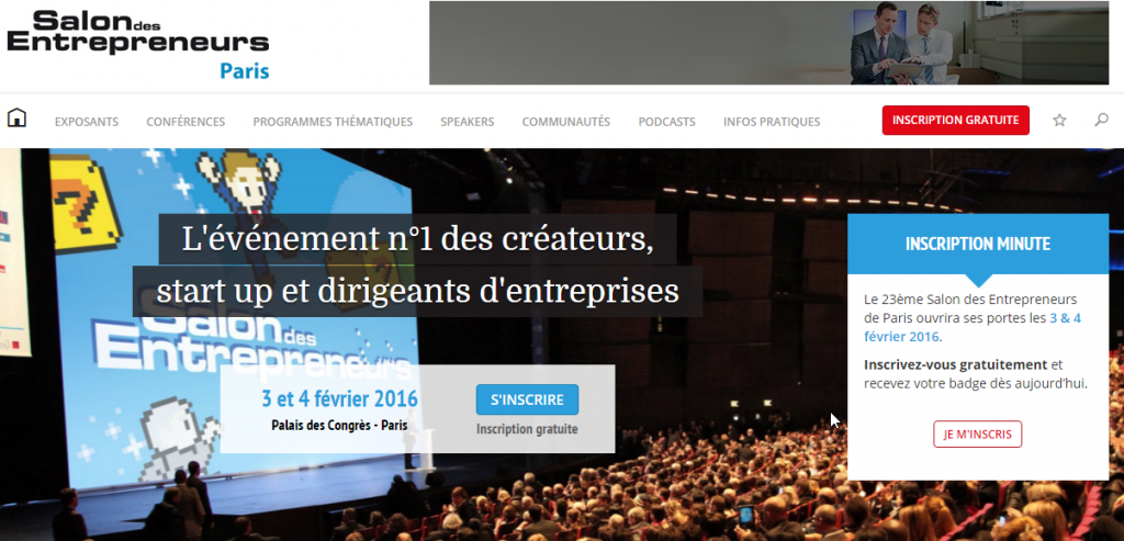 Sycfi le salon des entrepreneurs 2016 commence demain for Salon des entrepreneurs paris 2016